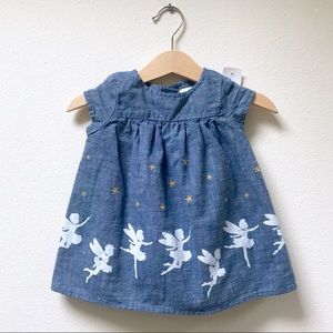 Baby GAP Chambray Dress w/ Embroidered Stars